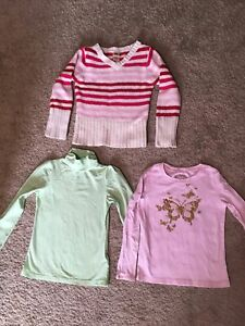 Lot of 3 Girls Shirts Sweater Size Medium 7/8 Long Sleeved Arizona Faded Glory