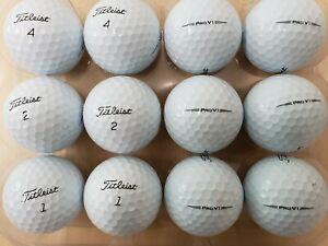 24 Used AAAA/Near Mint Condition Titleist Pro V1 2019 Golf Balls