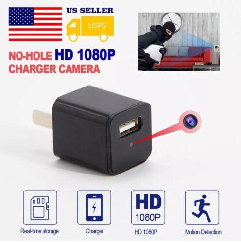 #1 Camara Espia Cargador HD Gafas 1080 Vision Nocturna Boton Llavero Mini