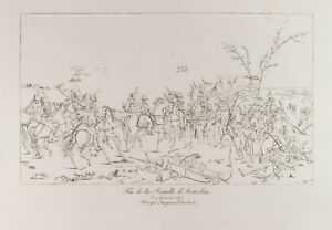 Grabado 1876: Batalla De Austerlitz. Fin. Napoleón Bonaparte