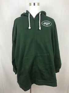 cee64bb6 Details about NWT New York Jets Women's Hoodie Size 2X Plus Over-Sized  Hooded Sweatshirt Green