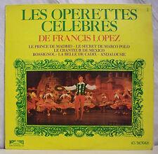 """33 tours FRANCIS LOPEZ Disque Vinyle LP 12"""" OPERETTES CELEBRES - TRETEAUX 6029"""