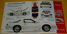 1992 Chevrolet Camaro Z/28 25th Anniversary Edition 305 EFI Info/Spec/photo 15x9