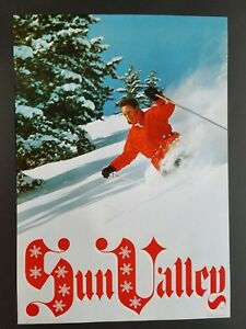 ORIGINAL SUN VALLEY IDAHO SNOW SKI POSTER 1960s VINTAGE BALD MOUNTAIN SKIER SKIS