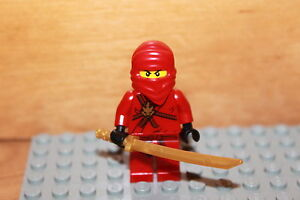 lego ninjago roter ninja kai figur mit goldener katana samurai aus set 2505 ebay. Black Bedroom Furniture Sets. Home Design Ideas