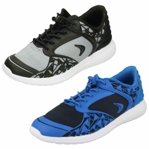 Boys Sprint Mix Inf /& Jnr Textile Elasticated Lace Trainers F /& G Fittings
