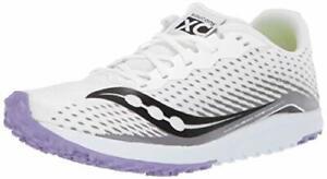 Saucony Women's Kilkenny Xc8 Flat Track Shoe, White/Purple, Size 7.5 IgoJ