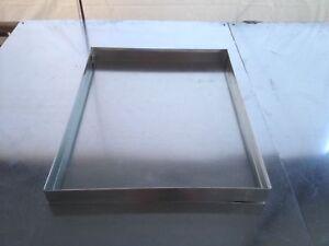 Hvac Drain Pan 16 X 32 X 2 Galvanized 26 Gauge Sheet Metal Ebay