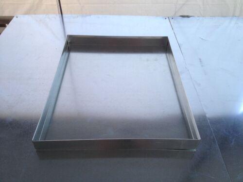 HVAC DRAIN PAN 22 X 32 X 2 GALVANIZED 26 GAUGE SHEET METAL