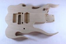 Unfinished Basswood Flame body Fits Fender Strat Stratocaster  necks+ OFR P126