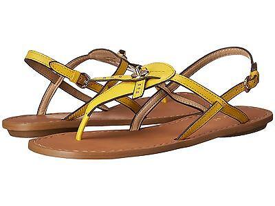 Coach Sandals Camara Semi Matte Calf Yellow Color Leather