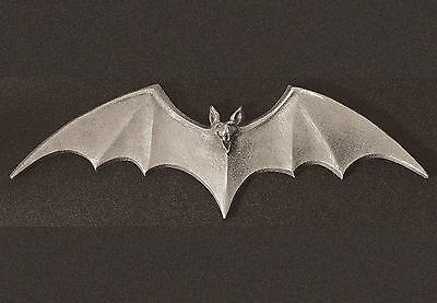 Pewter Bat  Dash Plaque, Guitar, Rock & Roll, Rat Rod Emblem  #9