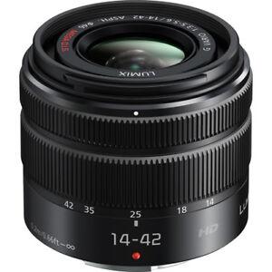 NEW-Panasonic-Lumix-G-Vario-14-42mm-f-3-5-5-6-II-Camera-Mega-O-I-S-Objektiv-Schwarz