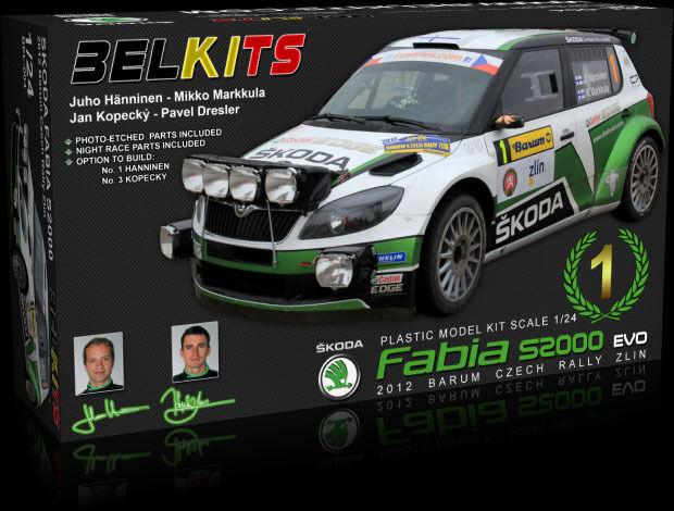 BELKITS 1:24 KIT AUTO SKODA FABIA S2000 2012 RALLY BARUM CZECH RALLY 2012 ZLIN ART BEL-004 863392