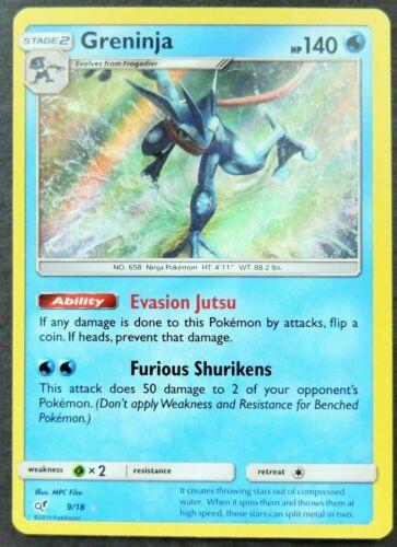 Greninja 9/18 SM Detective Pikachu HOLO RARE Pokemon Card PACK FRESH