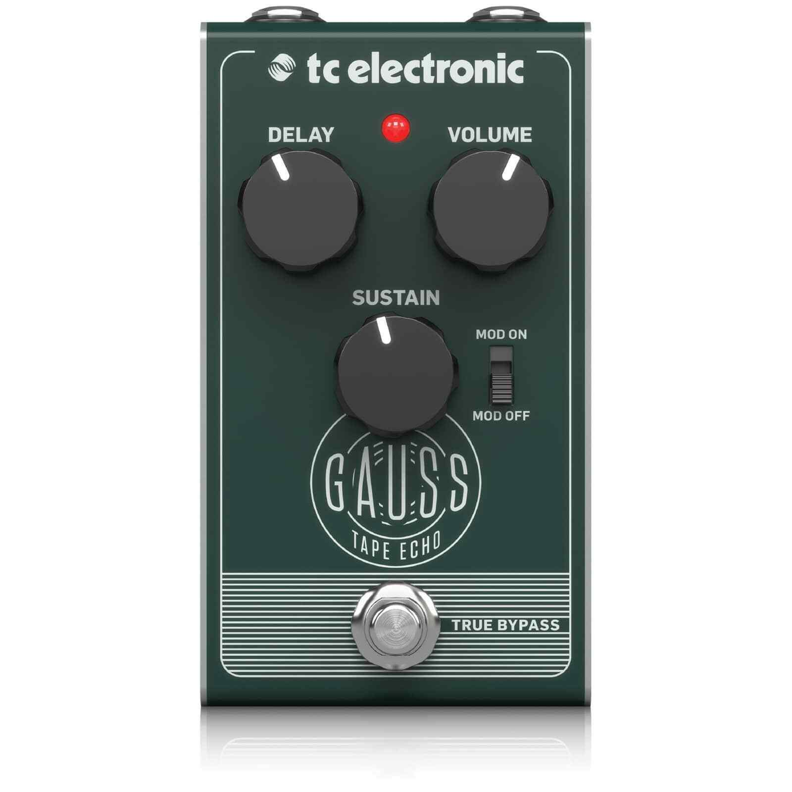 TC Electronic Gauss Super-Saturated Tape Echo Guitar Effects Pedal