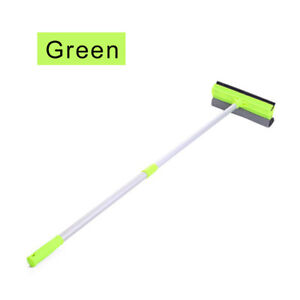 Extendable-Metal-Handle-Window-Cleaning-Squeegee-Brush-Shower-Car-Wiper-Green