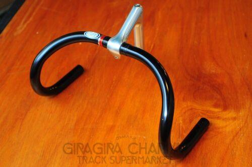 NJS Keirin Track Pista Silver Black Nitto B123AA Deep Drop Handle Bar