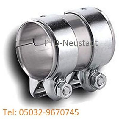 Auspuffschelle 76-80,5 x 125 mm Rohrverbinder Verbindungsrohr Doppelschelle