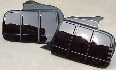 CUSTOM! 05-09 Ford Mustang OEM Smoked Tail lights Tinted Black Factory Non Led