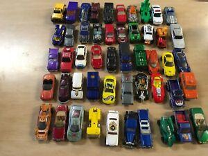 Lote-de-10-Vintage-Decada-de-1980-Hot-Wheels-Juguete-Diecast-coches-camiones
