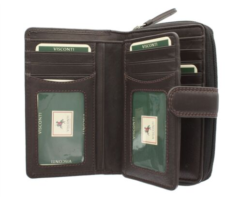 Visconti Heritage Collection MADAME Leather Purse With Tab Closure HT33