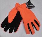 Men's Deerskin Gloves Orange Fleece Back Black suede Palm 40 Gram Thinsulate