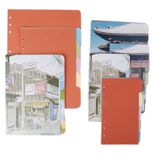 A5 A6 B5 Innenseiten Organizer Notizbuch Indextrenner 6 Loch TrennseitenVEH/%F