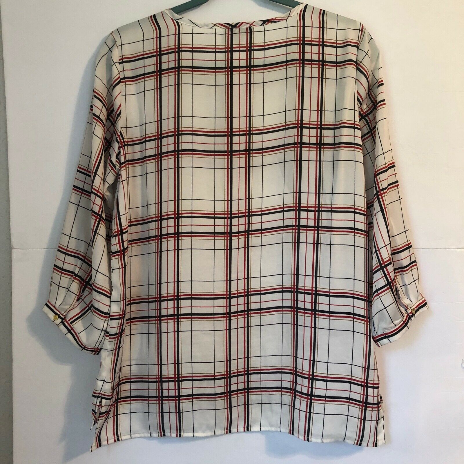 The Limited Blouse Red Black White and Gold Tarta… - image 8