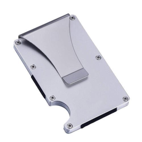 RFID Blocking Ultra Slim Aluminum Metal Credit Card ID Holder Wallet Money Clip