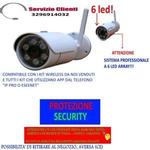 Dettagli su TELECAMERA VIDEOSORVEGLIANZA DEL KIT WIRELESS WIFI IP PRO 6 LED  ARRAY - RICAMBIO