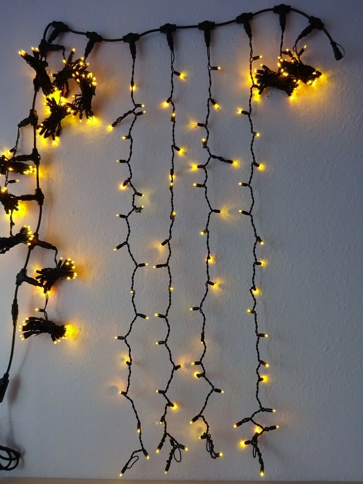 Endres LED Lichtervorhang 2 x 2m + Erweiterung 2 x 2m Gelb System E42210+E42211