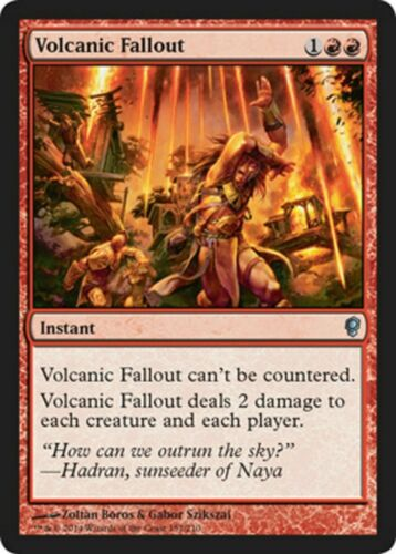 MTG 4x Volcanic Fallout  VO Conspiracy NM//M English Magic