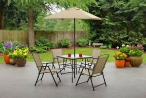 Patio Furniture Set Table and Chairs Umbrella Outdoor ...