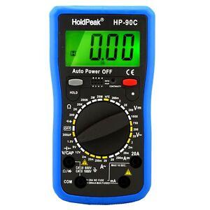 Digital-Multimeter-mit-Batterietester-Strom-Spannung-Widerstand-Transistor