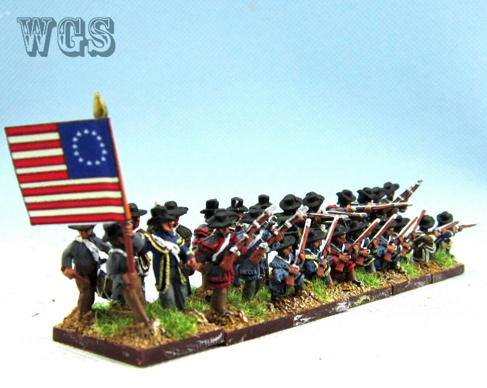 15mm Guerra de Independencia Americana un Pintado Alemán Infantryman AWA4