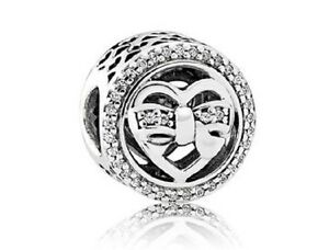 NEW-Authentic-Pandora-2017-Loving-Ties-Charm-Openwork-Clear-CZ-792146CZ