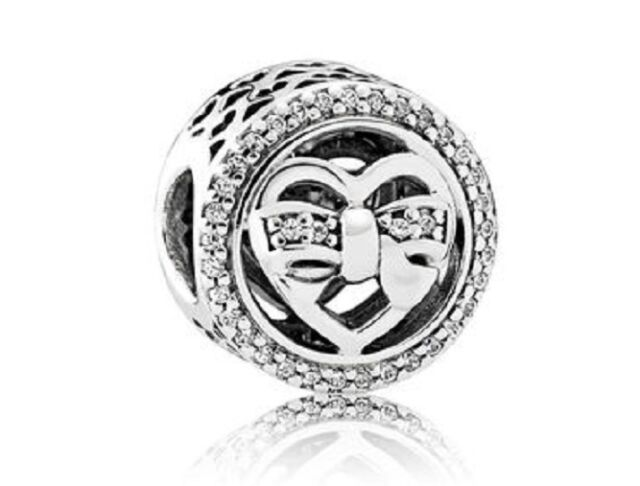 NEW Authentic Pandora 2017 Loving Ties Charm Openwork Clear CZ 792146CZ