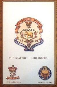 The-Seaforth-Highlanders-Postcard-Gale-amp-Polden-Military-Scottish-Emblem-Crest