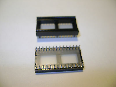 10 NEW 28 PIN INTEGRATED CIRCUIT IC CONNECTOR SHIPS FROM USA RE4
