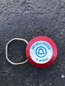 Vtg-One-Bell-System-Advertising-Promo-Telephone-Rotary-Key-Chain-Holder-Employee