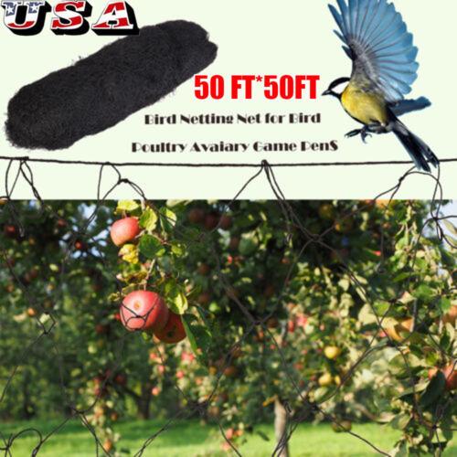 Deluxe 32x50 Mesh Net//Netting-garden-privacy screen-cargo-shade cloth//black knit