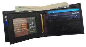 AG-Wallets-Mens-Bifold-Wallet-Real-Leather-Center-Flap-Slim-Credit-Card-Holder