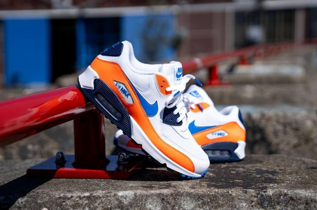 air max 90 blue orange and white