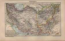 Landkarte map 1906 PERSIEN. Kaspisches Meer Afghanistan Hindukusch Belutschistan