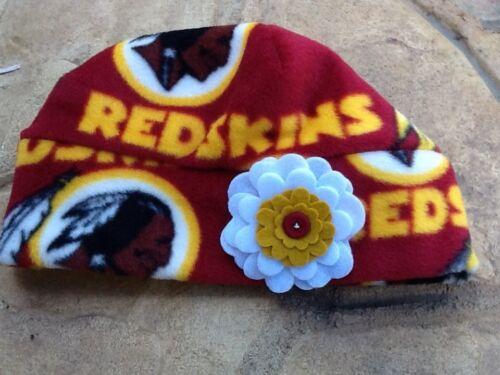 Washington Redskins Fleece Flower Hat Newborn Baby Girls,Children Adult women
