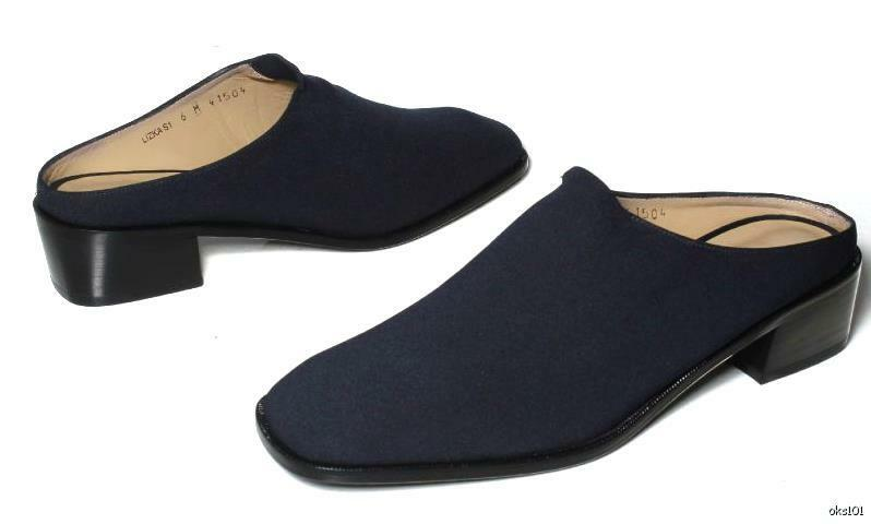 new DONALD J PLINER 'Lizka' navy elastic mule slides schuhe - very comfortable