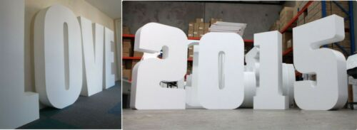 Cut Polystyrene Letters and Numbers Foam Thin to Thick Various Sizes Single
