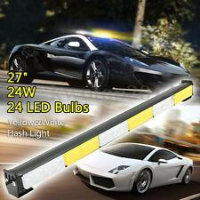 27'' 24LED Emergency Traffic Advisor Strobe Flash Light Warning Bar White/Amber
