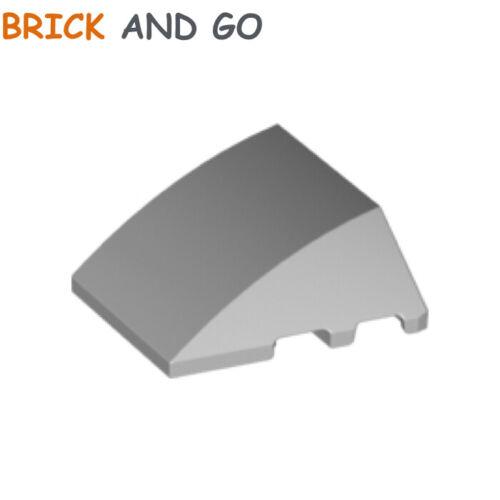 1 x LEGO 64225 Brique Coque Brick 4x3 Wedge Curved NEUF NEW gris, grey